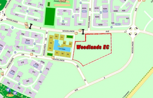 Location of Woodlands EC